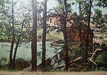 Bogert's Pond & Mill - 1911.