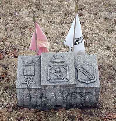 Abraham B. Bogert's grave marker.