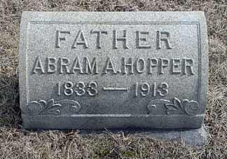 Abram A. Hopper's grave marker.