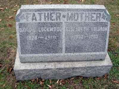 David L. Lockwood's grave marker.