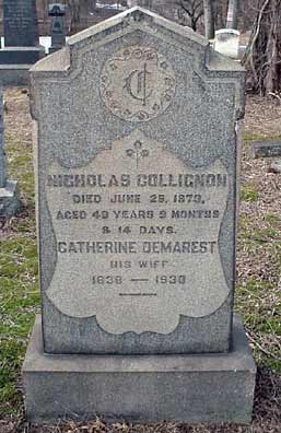 Nicholas Collignon's grave marker.