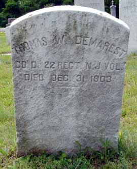 Thomas W. Demarest's grave marker.