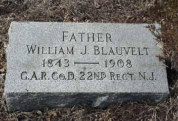 William J. Blauvelt's grave marker.